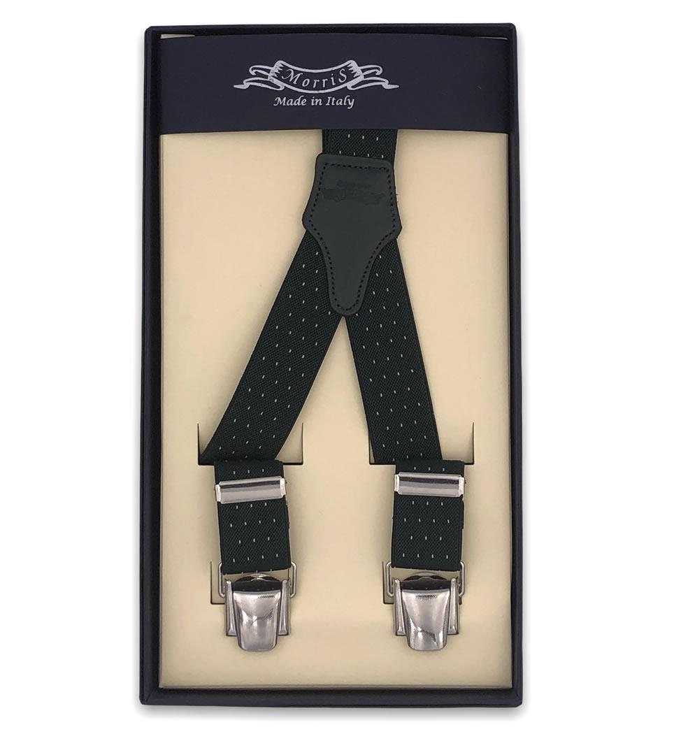 Bretelle in elastico cm 2,5 colore verde