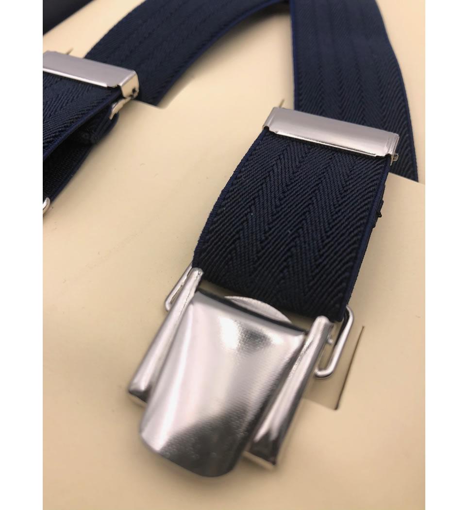 Bretelle in elastico cm 2,5 colore blu