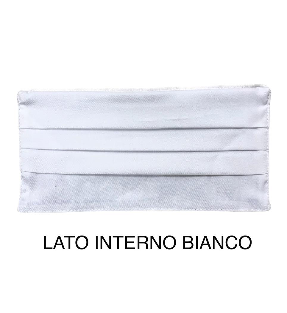 Mascherina copri viso lavabile con 2 veli tessuto 100% cotone