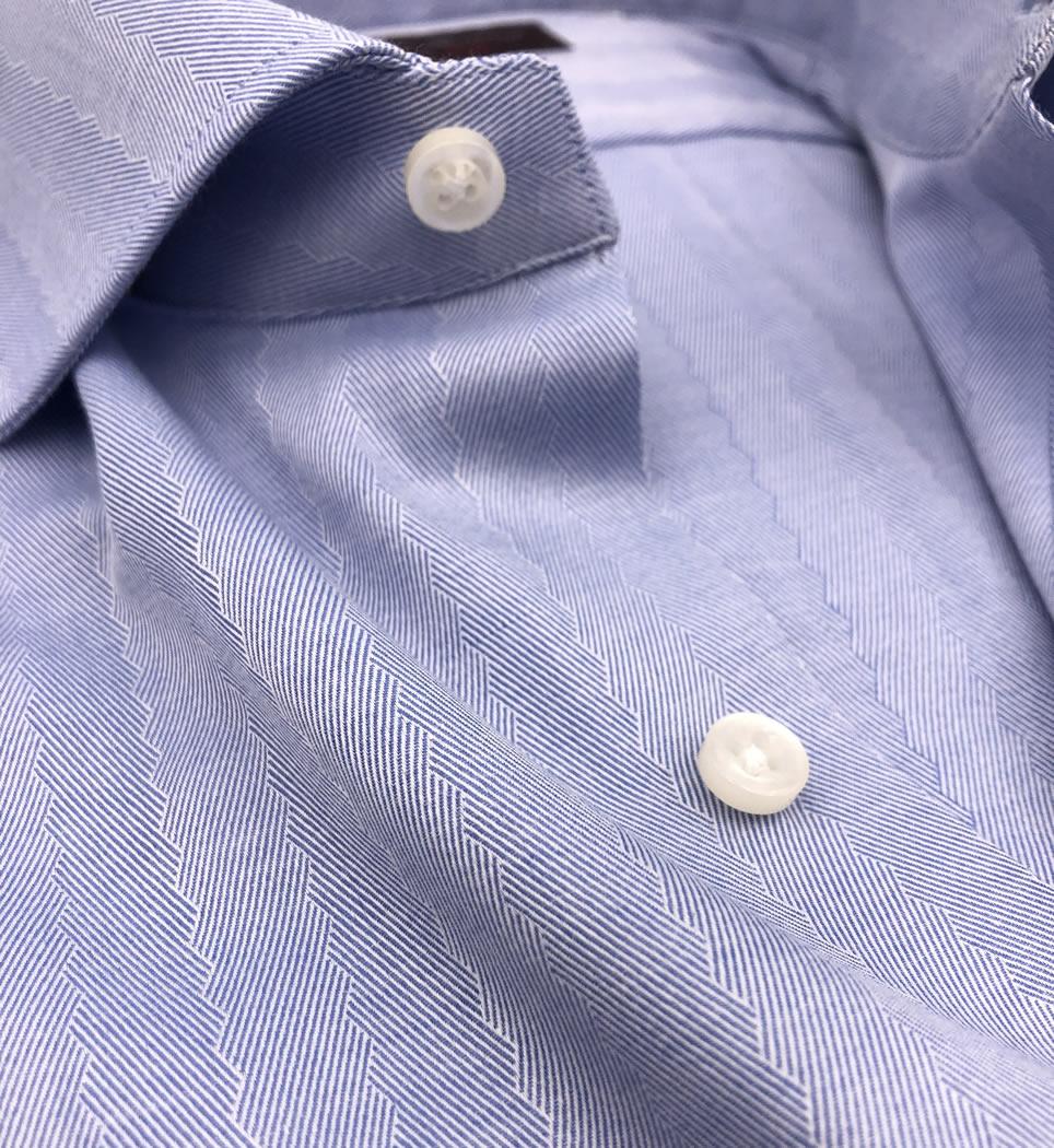 Camicia Uomo Regular collo francese righe spinate 100% cotone