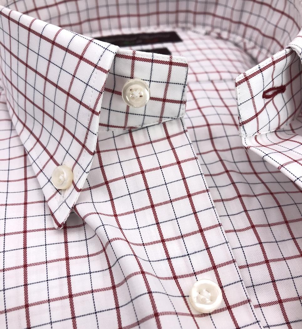 Camicia Uomo Regular collo button down quadri 100% cotone