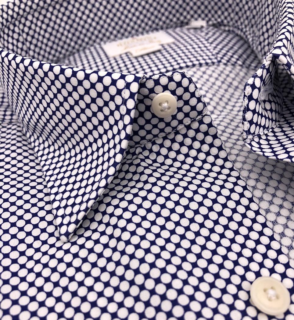 Camicia Uomo Slim collo morbido Fantasia 100% cotone